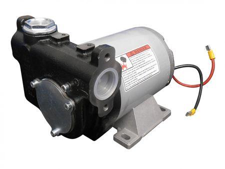 "Adam Pumps 24V Umfüllpumpe, Dieselpumpe max. 85 l/min., integr. Edelstahlfilter, Bypassventil, Anschlüsse 1"" IG und Flansch – Bild 1"