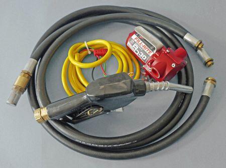 RD1212BN tragbare 12V Pumpe zum Umfüllen von Benzin, Alkylatbenzin und Diesel. Förderleistung max. 45 l/min, Motor mit ATEX Zulassung, Lieferumfang: 12V Pumpe, 3m Stromkabel mit Erdungsanschluss, Saug- & Füllschlauch, autom. Zapfpistole – Bild 1