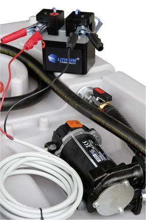 Li-Power-Block passend für 12V DC Pumpen, stromunabhängig mit Lithium-Eisenphosphat Akku , 13,3V 5,5Ah, inkl Ladegerät 100 - 240 VAC, Ausgang 14,4V - 3A – Bild 3