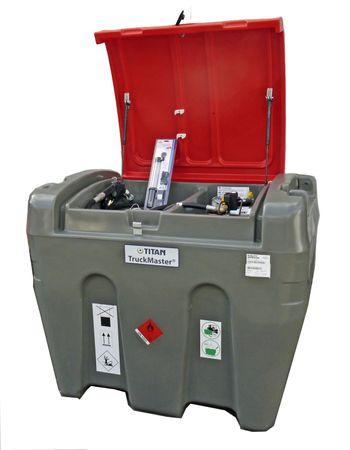 KingspanTruckMaster 900 Transporttank für Diesel mit ADR Zulassung, ca. 855 Liter Nutzvolumen, 12V Pumpe max. 35l/min, 4m Zapfschlauch, autom. Zapfpistole, abschließbarer Deckel, 4 Verzurrösen, LED Akkuleuchte mit Ladekabel