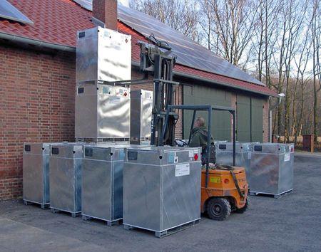 KUBICUS 350, doppelwandiger Transport- und Lagerbehälter aus Stahl mit ADR Transport- und Lagerzulassung für Diesel, Heizöl. Leergewicht 225 kg – Bild 3