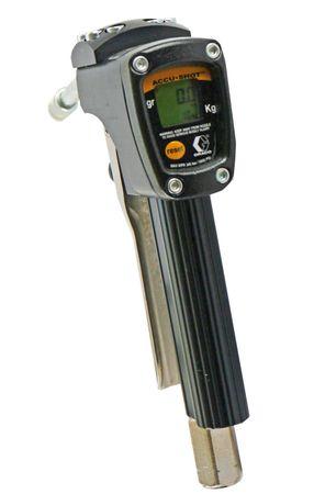 GRACO Accu-Shot robuste Fettpistole mit elektronischem Zählwerk für Schmierfett bis NGL2, Anzeige in Gramm, starres Düsenrohr mit 4-Backen Hydraulik-Mundstück – Bild 1