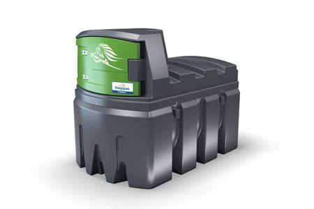 FuelMaster® Standard 1: 2500 Liter, Pumpe 230V 72 l/min., mechanisches Zählwerk K33, 4m Schlauch, autom. Zapfventil, Grenzwertgeber + Leckagesicherung WHG zugelassen, Beleuchtung, abschließbarer Schrank – Bild 1