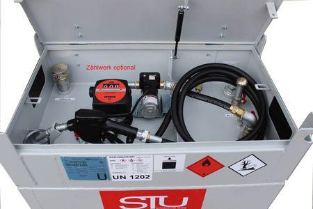 230V Dieselpumpenset für Kubicus 100: 230V Pumpe 40l/min, 2,5m Zapfschlauch, autom. Zapfpistole mit Drehgelenk, inkl. Einbau bei gleichzeitigem Kauf eines KUBICUS 100