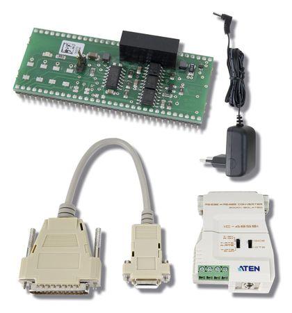 PC-Anschluss RS422 für HDMeco + HDMpro, bis max. 1200 m inkl. Konverterset