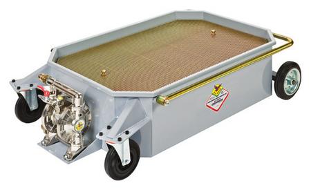 Fahrbarer Altölwagen Volumen 150L mit Altöl Druckluft Doppelmembranpumpe und entnehmbarer Gitterrost