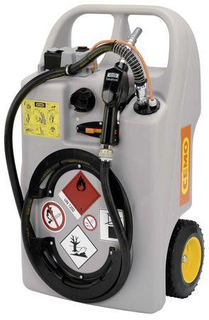 CEMO Dieseltrolley 60 Liter Inhalt, mit 12V Pumpe, LiFePo4-Akku, Lagegerät,  3m Schlauch und automatische Zapfpistole – Bild 1