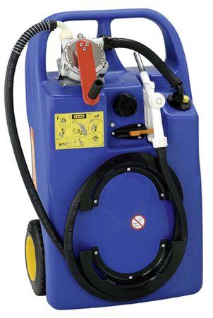 CEMO AdBlue® Trolley 60l mit Kurbelpumpe, 2,9m Zapfschlauch, fahrbarer PE Behälter, mit Handgriff, Tragegriffen und Rädern – Bild 1