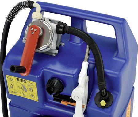 CEMO AdBlue® Trolley 60l mit Kurbelpumpe, 2,9m Zapfschlauch, fahrbarer PE Behälter, mit Handgriff, Tragegriffen und Rädern – Bild 2