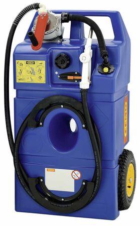 CEMO AdBlue® Trolley 100l mit Kurbelpumpe, 3,4m Zapfschlauch, fahrbarer PE Behälter, mit Handgriff, Tragegriffen und Rädern – Bild 1
