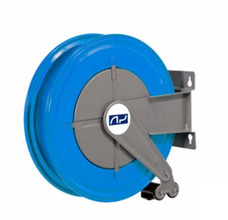 """Automatischer Schlauchaufroller aus lackiertem Stahlblech Serie G für max. 15m Dieselschlauch ø 25mm oder 20m Dieselschlauch ø 19mm. Anschlüsse 1"""""""