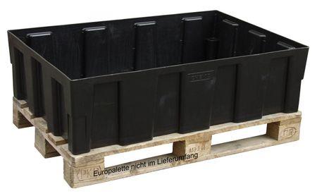 Euro-PE Auffangwanne 250/2 ohne Gitterrost,  Zulassungsnr.: Z-40.22-420. Auffganvolumen 250l. Die Wanne kann direkt auf dem Boden oder auf einer Europalette aufgestellt werden.