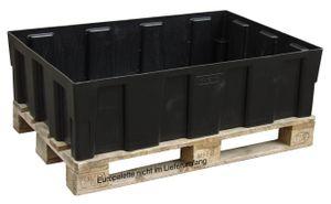 Euro-PE Auffangwanne 250/2 ohne Gitterrost,  Zulassungsnr.: Z-40.22-420. Auffganvolumen 250l. Die Wanne kann direkt auf dem Boden oder auf einer Europalette aufgestellt werden. 001