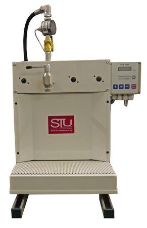 Öltheke - Dosieranlage für Kleingebinde: Öltheke für Kannen mit 1 Zapfhahn, 230V Magnetventil, Ovalradmesskammer TM03 750 ppl, Zahnradpumpe, Impulsverstärker, Zählwerk mit 10 programmierbaren Abgabemengen PUZ-1000 – Bild 1