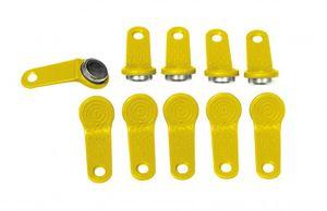 10 x Piusi original Ersatzteil User Key / Benutzerschlüssel - gelb passend für Cube MC, Self Service MC,  MC Box 001