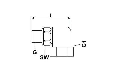 Befüllanschluss 90°, Länge 71mm, für Befüllzylinder ID2719 ohne Stutzen, M22x1,5 x M26x1,5 Graco Lincoln Allfett – Bild 2