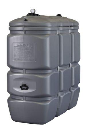Doppelwandiger Vorrats- und Entsorgungstank aus HDPE, Inhalt 1500 Liter, mit Tankinhaltsanzeige und 4 Anschlussbuchsen – Bild 1