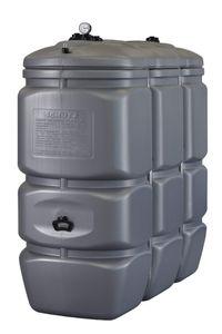 Doppelwandiger Vorrats- und Entsorgungstank aus HDPE, Inhalt 1500 Liter, mit Tankinhaltsanzeige und 4 Anschlussbuchsen 001
