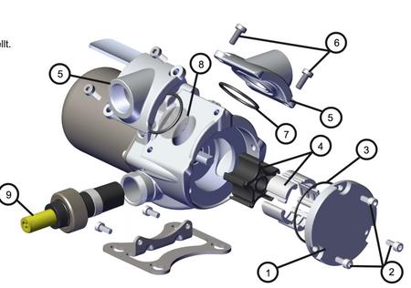 Reparatur Set für Fill-Rite Benzinpumpe RD1212, Enthält die Teile Nr. 1,2,3,4,6,7,8 und eine Einbauanleitung