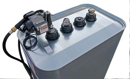 Doppelwandiger Tank Typ VET1000, mit Dieselpumpen Set T6002 230V ca. 60 l/min. 4m Zapfschlauch, autom. Zapfpistole – Bild 2