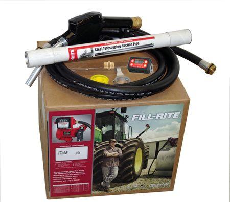 Fill-Rite FR705VE 230V Pumpe  ATEX-Zulassung, max 50 l/min., Heberschutz Kit, autom. Zapfpistole, Drehgelenk, 4m Zapfschlauch, Stahl-Teleskopsaugrohr 890 mm, PG-Verschraubung Exd ATEX/IECEX, Digitalzählwerk f. Benzin + Diesel – Bild 3