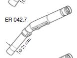 Original Ersatzeil: ER 042.7 Auslaufrohr für ELAFLEX ZVA Slimline 2