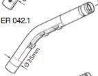 Original Ersatzeil: ER 042.1 Auslaufrohr für ELAFLEX ZVA Slimline 2