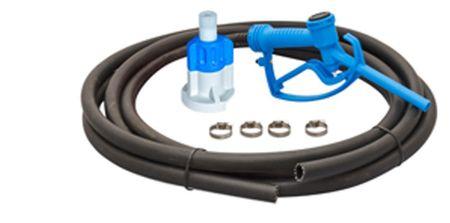 Schlauchset für AdBlue® Pumpenset Blue Kit Basic: 8m Schlauch aus PU, CDS Adapter, 4 Edelstahl Schlauchschellen, manuelle Zapfpistole