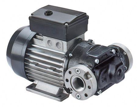 """Piusi Dieselpumpe E80M 230V 50Hz, max 70l/min,  Bypass Ventil, Anschlüsse: Rundflansch mit 1"""" IG BSP"""