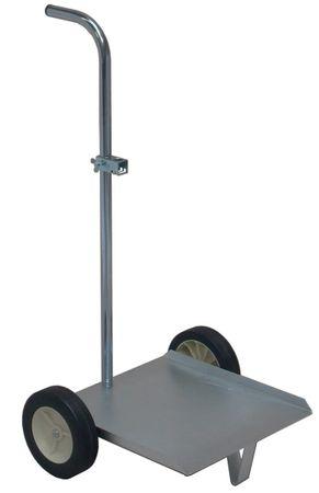 Mato verzinkter Fahrwagen für 25-60 l Ölbehälter, komplett mit Griffrohr und Fasshalter