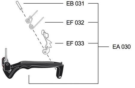 Original Ersatzteil: Elaflex Schalthebelgarnitur aus Kunststoff, Typ EA030 für ZVA Slimline 2 und ZVA Slimline 2 GR – Bild 1