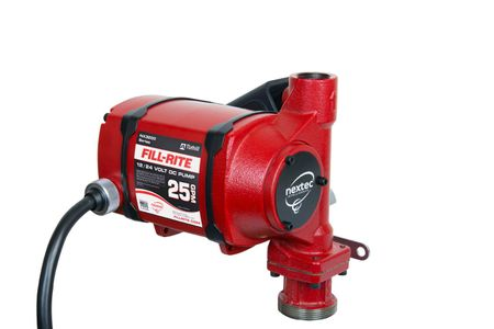 Fill-Rite Nextec 3200E 12 - 24V Pumpe mit ATEX ex Zulassung, geeignet für Diesel, Benzin, Kerosin, Fördereistung max. 95l/min., arbeitet ohne Umschalten an Batteriespannungen von 12V bis 24 Volt, inkl. 6m abschraubbarem Batteriekabel – Bild 2