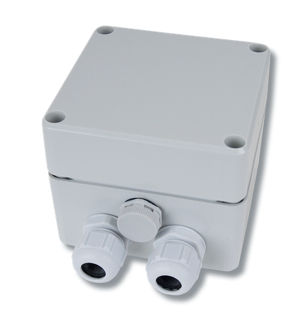Horn Tecalemit Klemmkasten IP 66 mit atmungsaktiven Filter zur Verlängerung des Anschlusskabels von Füllstandssonde Pegelsonde mit handelsüblicher Steuerleitung, z. B. 2 x 0,5 qmm