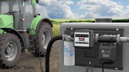 ST Panther 72 K33 A60 Filter Dieselpumpe zur Wandmontage, lackierte Stahlblechkonsole mit 230V Pumpe 52 l/min, Zählwerk K33, Water Captor einwegfilter 30µ, 6m Zapfschlauch, autom. Zapfpistole mit Drehgelenk – Bild 2