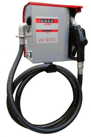 230V Pumpe max.60 l/min, 4-stelliges Zählwerk rückstellbar, wetterbeständiges Metallgehäuse 4m Abgabeschlauch, automatische Zapfpistole mit Bauartzulassung. – Bild 1