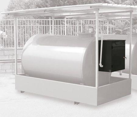 ST-Box Panther 56 Basic Abschließbarer Stahlschrank mit integrierter 230V Dieselpumpe ca. 52l/min., mechanisches Zählwerk K33, Schmutzfilter mit Wasserabsorber, 6m Zapfschlauch, autom. Zapfpistole – Bild 3
