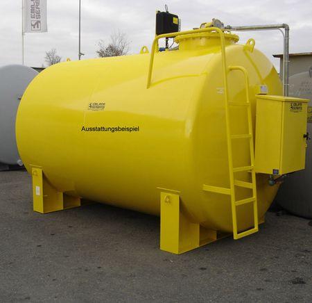 EN12285-2 Dieseltankstelle mit 10000 Liter Volumen, doppelwandiger Stahltank (6 + 4 mm), mit Stahlsattelfüßen, Leiter, Cube 70 MC Dieselpumpe mit Tankdatenerfassung max. 70l/min, 4m Schlauch, autom. Zapfpistole – Bild 3