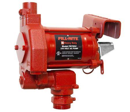Fill-Rite FR705VE 230V Pumpe  ATEX-Zulassung, Förderleistung max 75 l/min., mit Heberschutz Kit, ohne Netzkabel, Stecker, Schlauch und Zapfpistole.
