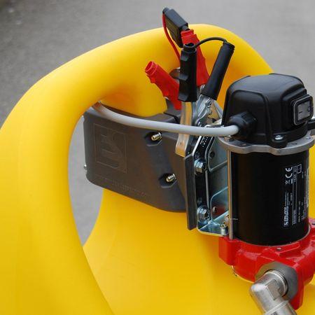 emilcaddy55 Diesel, fahrbarer 55 Liter HD-PE Behälter mit 12V Dieselpumpe, 3m Schlauch, automatische Zapfpistole, 2 stabile Räder, Stützfuss, ADR-Transportzulassung – Bild 2