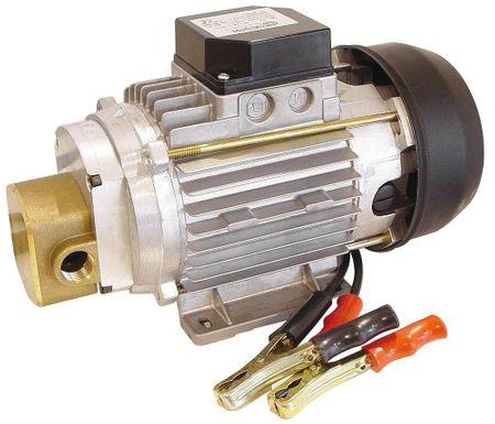 EA90-12V DC Zahnradpumpe mit Bypassventil zum Umfüllen von Schmierölen, Motor 12V DC 0,37kW, max. 55A, 1500rpm, 2,5m Saughöhe, max. 25l/min (SAE20/50 W @ 25°C), inkl. 2m Stromkabel mit Batterieklemmen