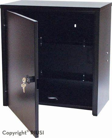 ST Box E120M Basic Abschließbarer Stahlschrank mit integrierter 230V Dieselpumpe ca. 85-90l/min., mechanisches Zählwerk K33, Schmutzfilter mit Wasserabsorber, 8m Zapfschlauch DN 25, autom. Zapfpistole – Bild 2