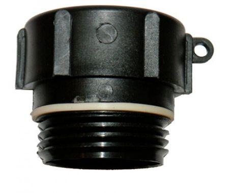 """Adapter 2"""" BSP auf Tri-Sure® Kunststoff-Fässer mit  Grobgewindeanschluss ø 55 mm"""