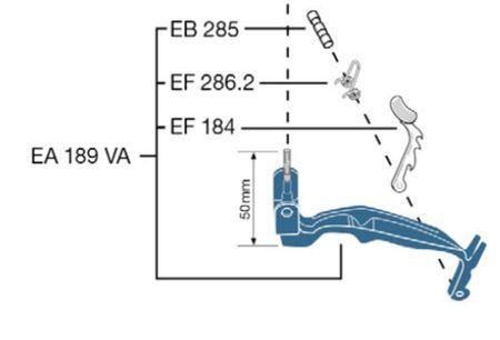 Original Ersatzteil: Schalthebelgarnitur rostfrei blau für Elaflex ZVA AdBlue®
