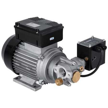 Piusi Zahnradpumpe 230V für Hydraulik- und Motorenöle, Förderleistung ca. 9 l/min, Arbeitsdruck max 12 bar, selbstansaugend, BypassVentil, Druckschalter (Flowmat)