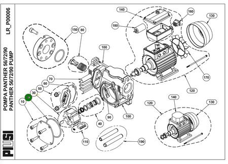 Piusi original Ersatzteil - Zeichnungsnummer 20 - O-Ring Pumpenkammer Dieselpumpe Betankungspumpe Panther 56 / 72 / 90 und BP3000