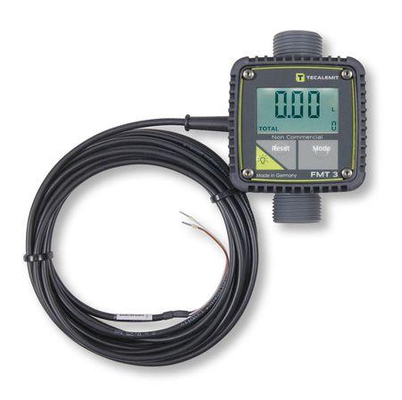 Elektronischer DurchflussmesserFMT 3 Impulsgeber - POM; für alle Durchflussrichtungen, Turbinenradzähler, mit LCD Anzeige und Impulsausgang,  für Diesel, Heizöl El/L, AdBlue®, RME, Kühlerfrostschutz (Konzentrat), Wasser, 5-120 l/min.