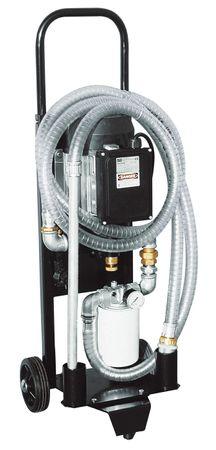 Piusi Depuroil 60 - fahrbares 230V Filtergerät für Öl und Diesel, bestehend aus Viscomat 90 Ölpumpe Elektropumpe, Filter 10µ, Ersatzkartusche, Saug- und Abgabeschlauch aus PVC, Sauglanze, Manometer, Förderleistung bis zu 3000l/h – Bild 1