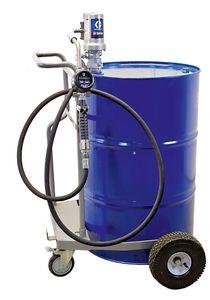 Fahrbare pneumatische Ölanlage Ölabgabegerät für 200L Fass, 3:1 Druckluftpumpe GRACO® LD, 4m SchlauchDN12-1SN, GRACO® Handdurchlaufzähler EM8-R, mit starrem Auslauf 001