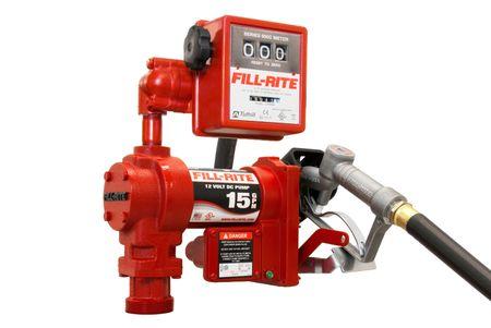 FR1211GEL Fill-Rite 12V Pumpe max. 57l/min., für Benzin, Diesel, Kerosin, Motor mit CE und ATEX, inkl.Zählwerk Modell 807, 3,6m Schlauch, manuelle Zapfpistole, Potentialausgleichskabel