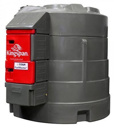 Kingspan FuelMaster ® 5000 Standard 3 - Doppelwandige Dieseltankstelle mit integriertem Pumpeset, Digitalzählwerk mit LCD Anzeige, Schlauchaufroller mit 6m Zapfschlauch,  im abschließbarem Schrank. Volumen 5000 Liter – Bild 1